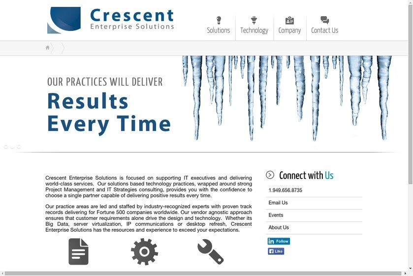Crescent Enterprise Solutions Website