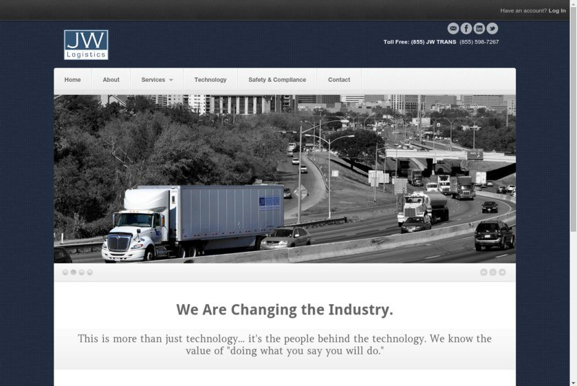 J. W. Logistics Website