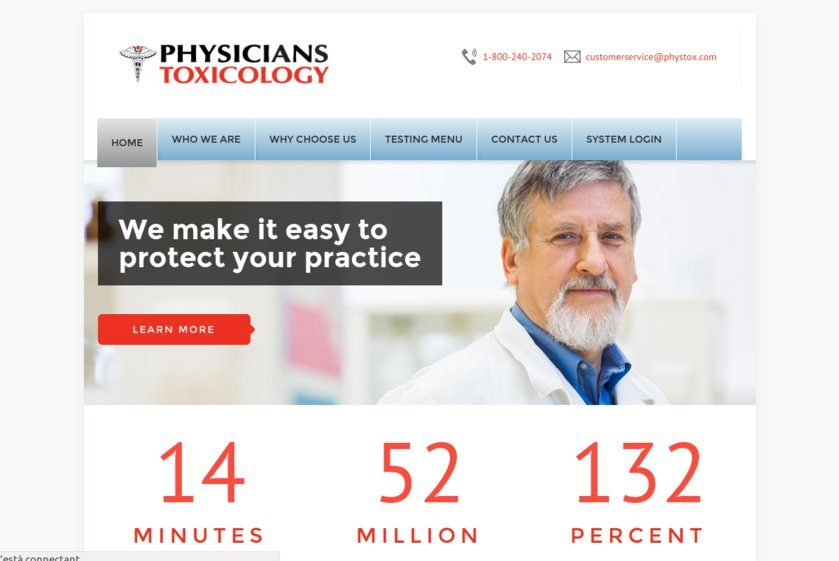Physicians Toxicology Laboratories Website