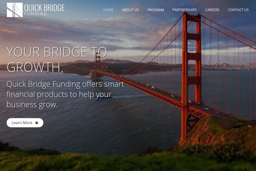 Quick Bridge Funding Website