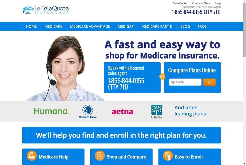 e-TeleQuote Insurance Website