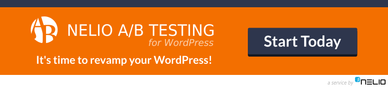 It's time to revamp your WordPress with Nelio A/B Testing. Split test anything in WordPress and improve your KPIs