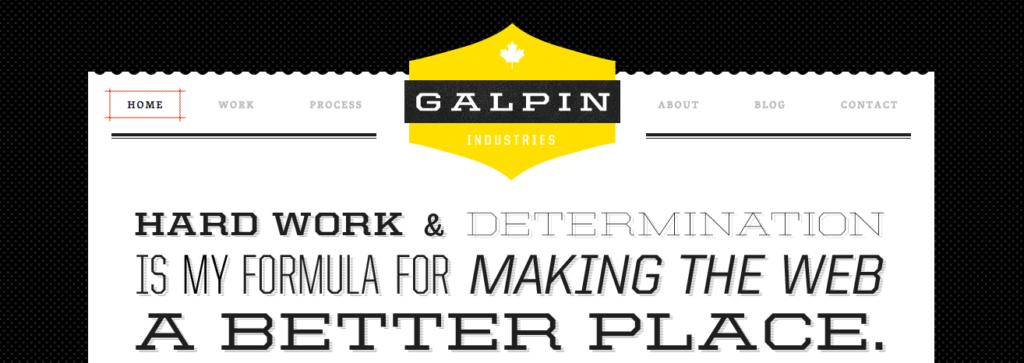Galpin Induestries menu screenshot