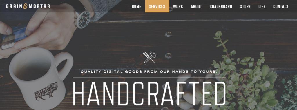 Grain&Mortar menu screenshot