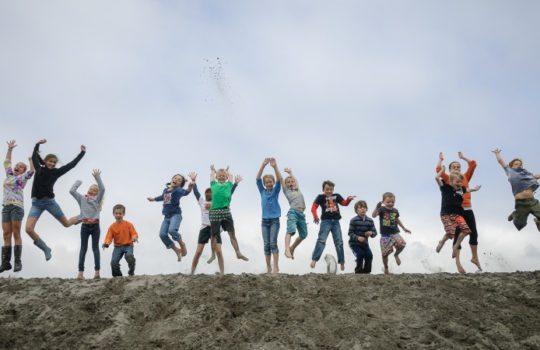 Kids jump again by Loren Kerns