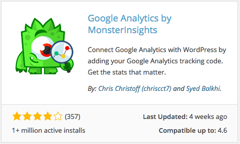 Google Analytics by MonsterInsights Plugin