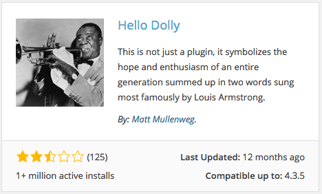 Hello Dolly Plugin