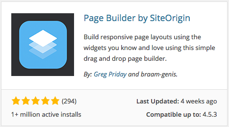 Page Builder by SiteOrigin Plugin