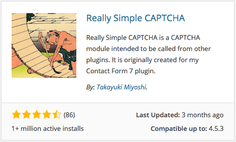 Really Simple CAPTCHA Plugin