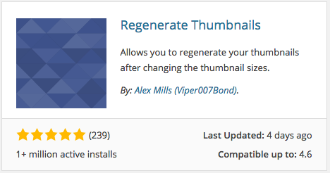 Regenerate Thumbnails Plugin