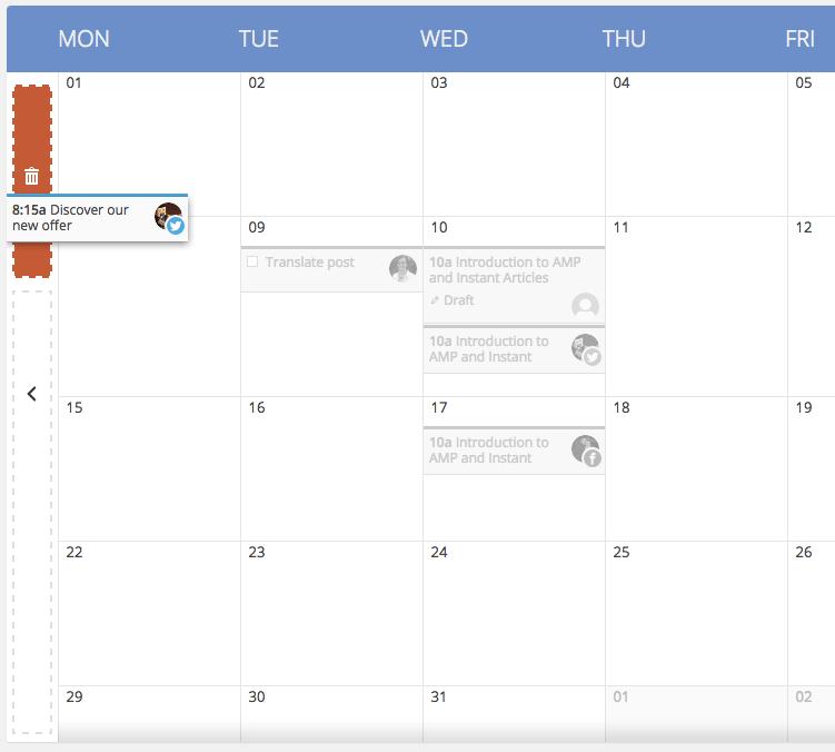 Drag-and-Drop Editorial Calendar