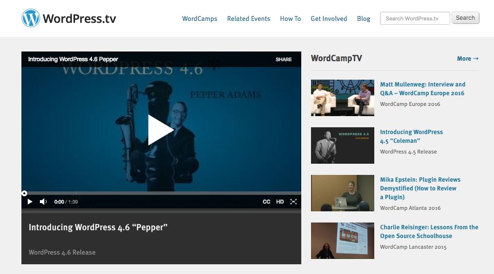Screen Shot WordPress.tv