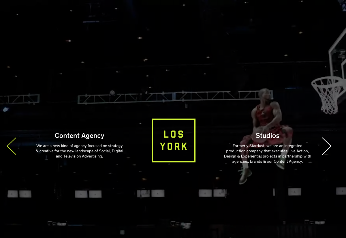 Los York website screenshot