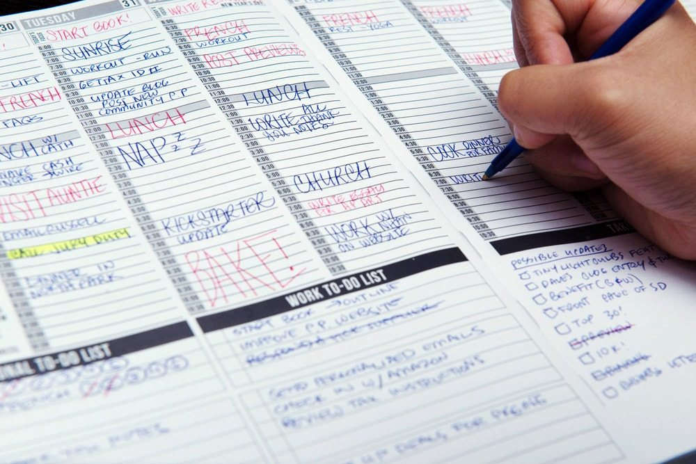Even on paper, having an editorial calendar will improve your content strategy.