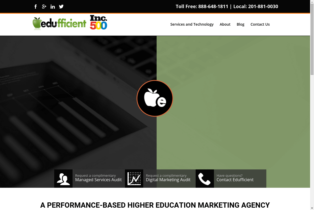 Edufficient website screenshot