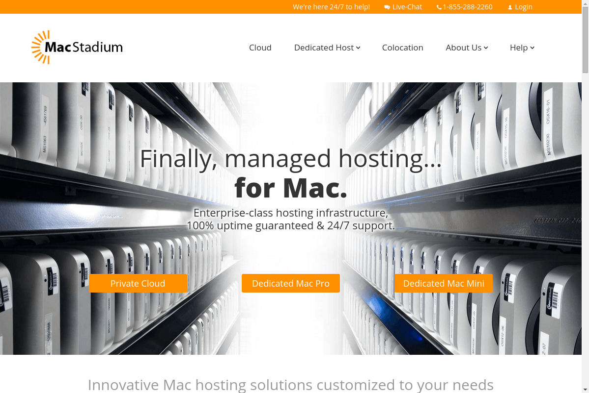MacStadium website screenshot