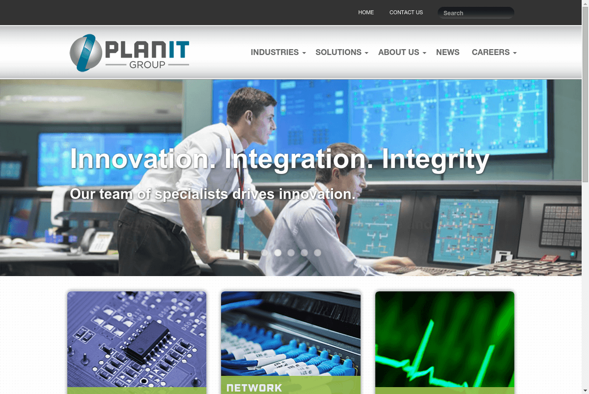 Planit Group website screenshot