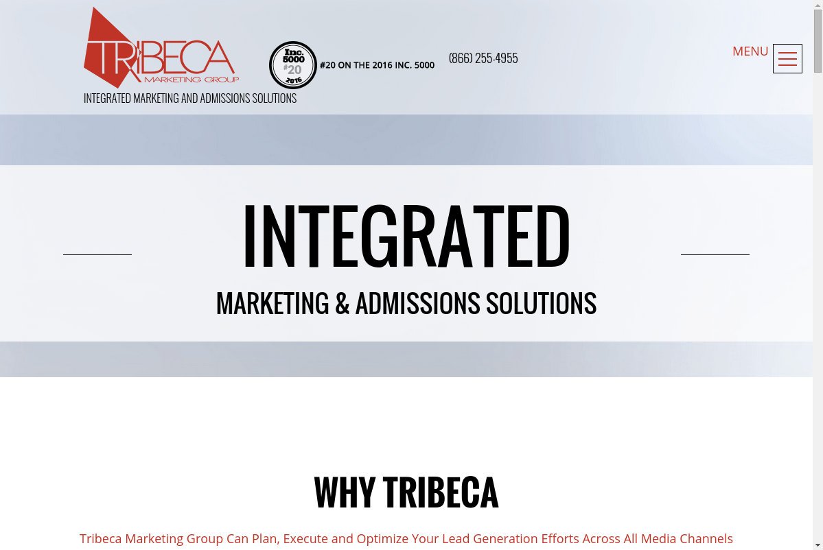 Tribeca Marketing Group website screenshot
