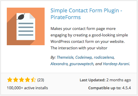 Pirate Forms plugin