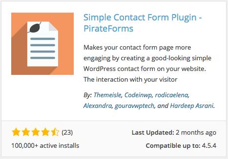 Pirate Forms plugin