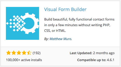 Visual Form Builder plugin