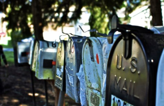 Mailboxes, by Andrew Taylor