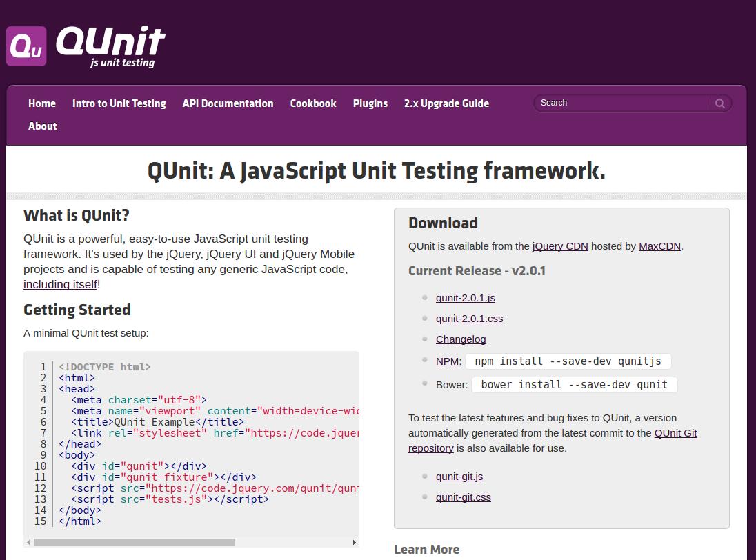 QUnit - jQuery's testing framework