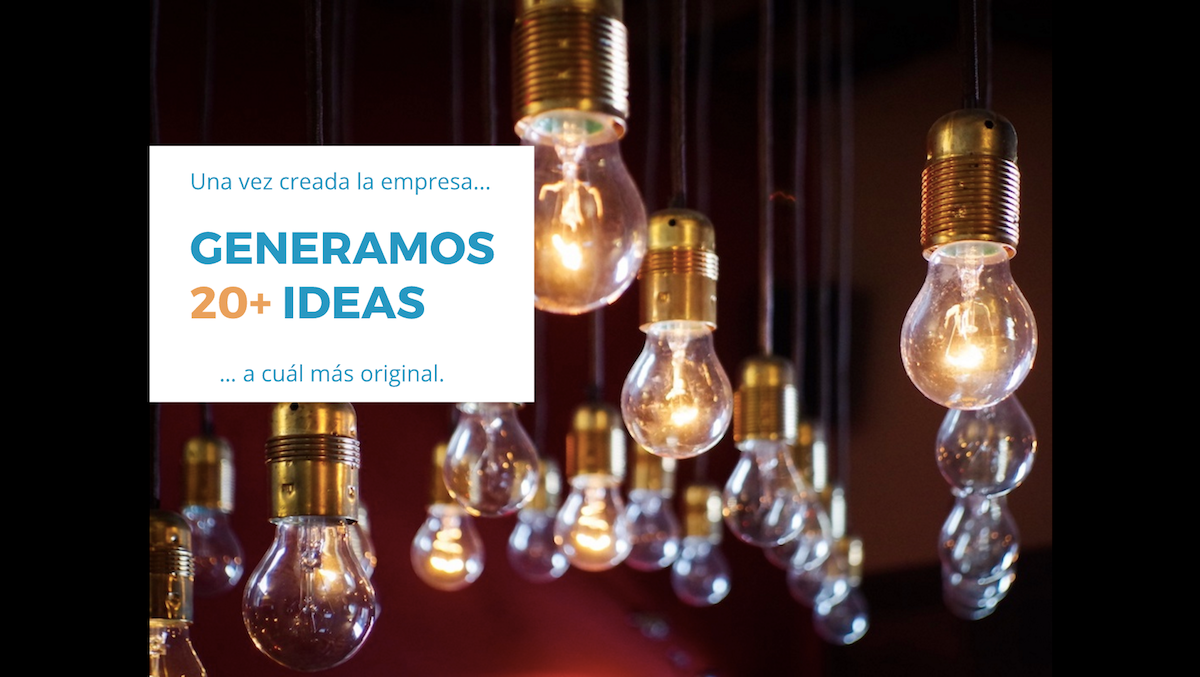 We generated 20+ ideas