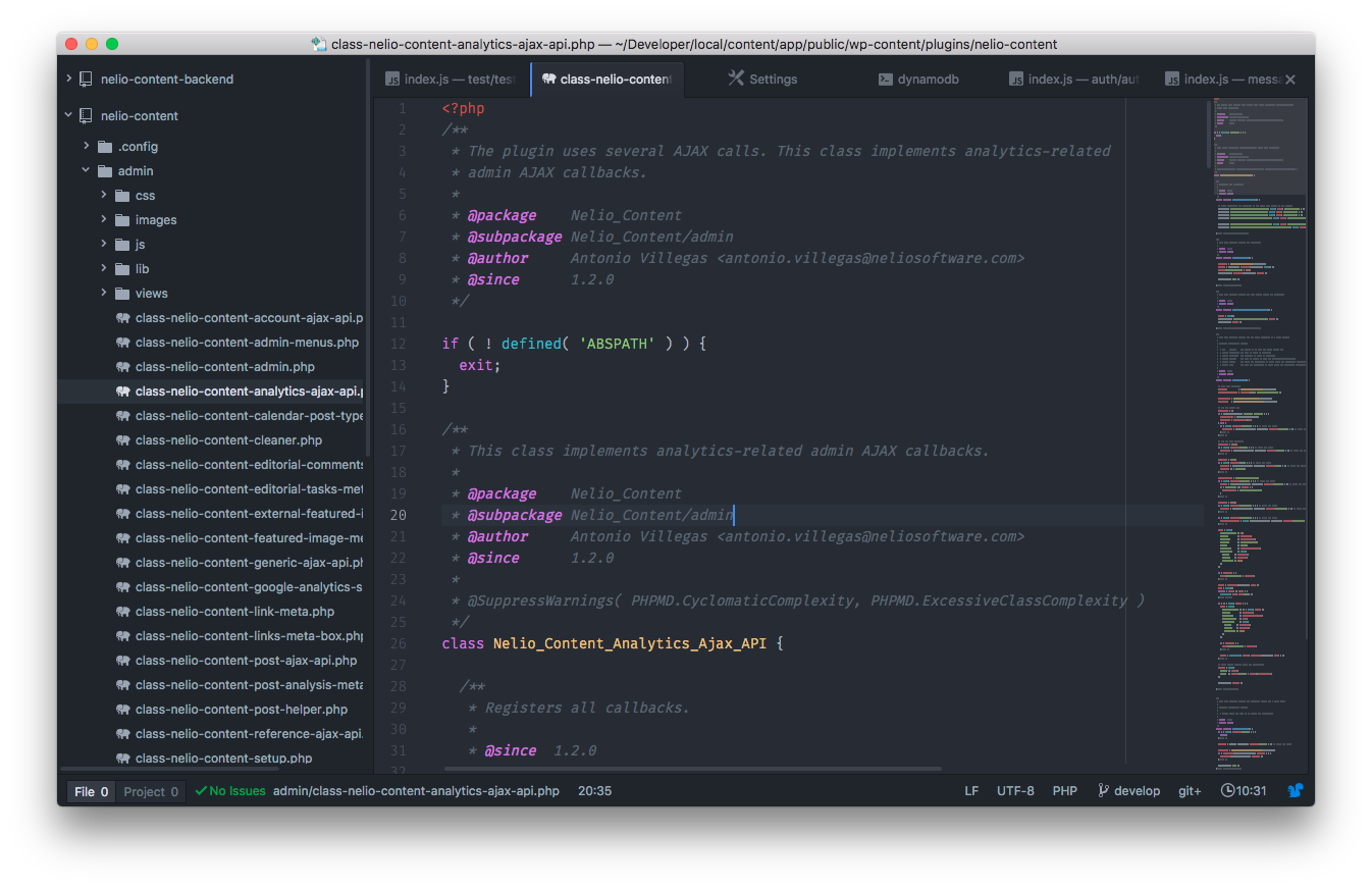 Screenshot of Atom.