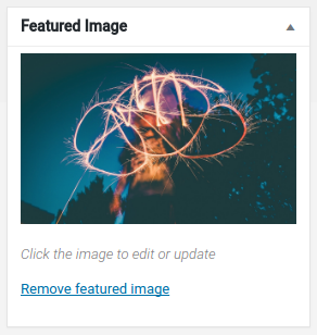 Default Featured Image Box