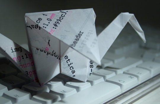 Origami image, by Simon Pow