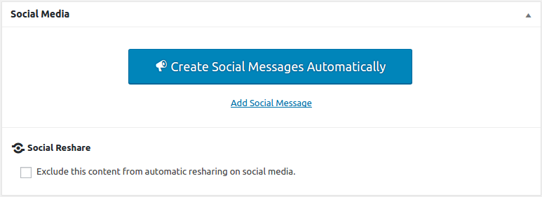 Create Social Messages Automatically