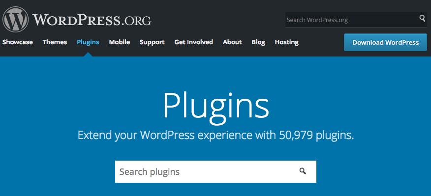 There are almost 51,000 plugins in the official WordPress plugins directory.