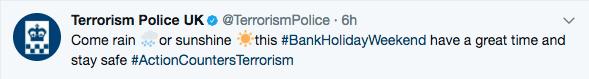 Terrorisme police UK twitter