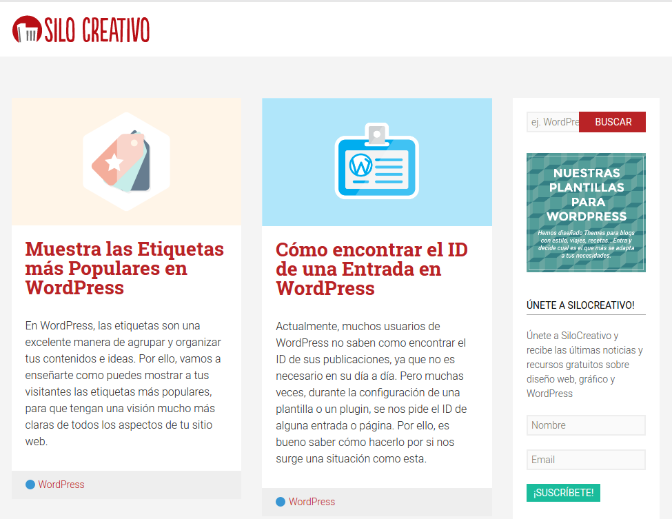 Last posts in Silo Creativo's blog