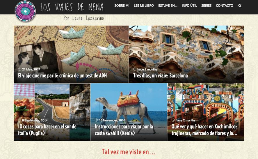 Los viajes de nena website