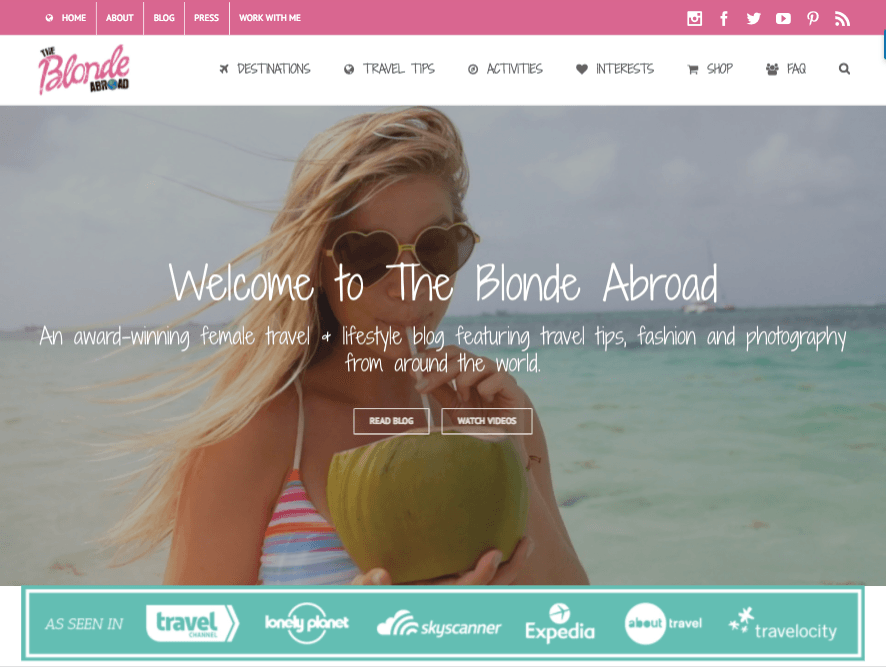 The Blonde Abroad website