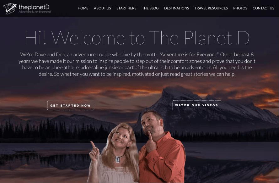 The Planet D website