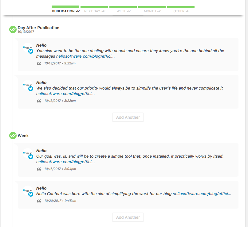 Social messages automatically generated with the Social Automation add-on.