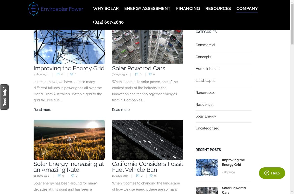EnviroSolar Power website