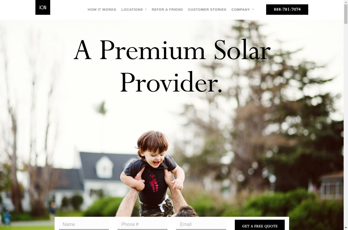 Ion Solar website
