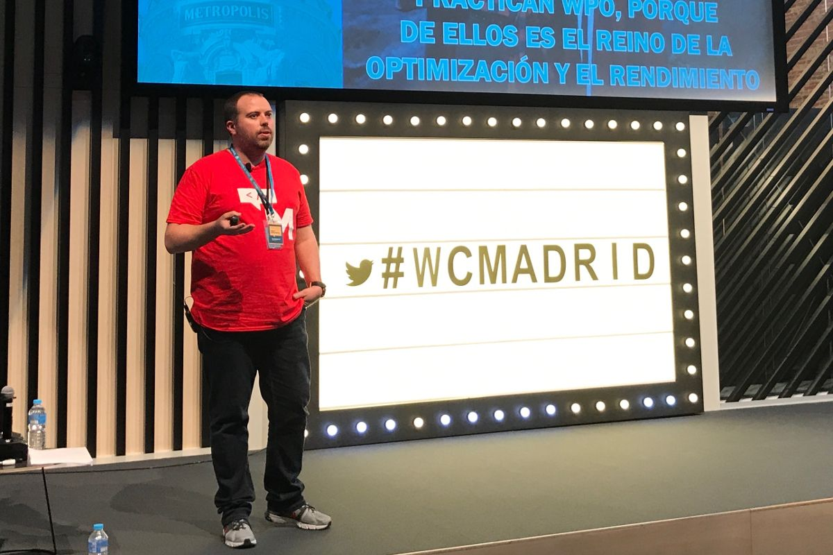 Pablo López at WordCamp Madrid. Picture by Eric Zeidan