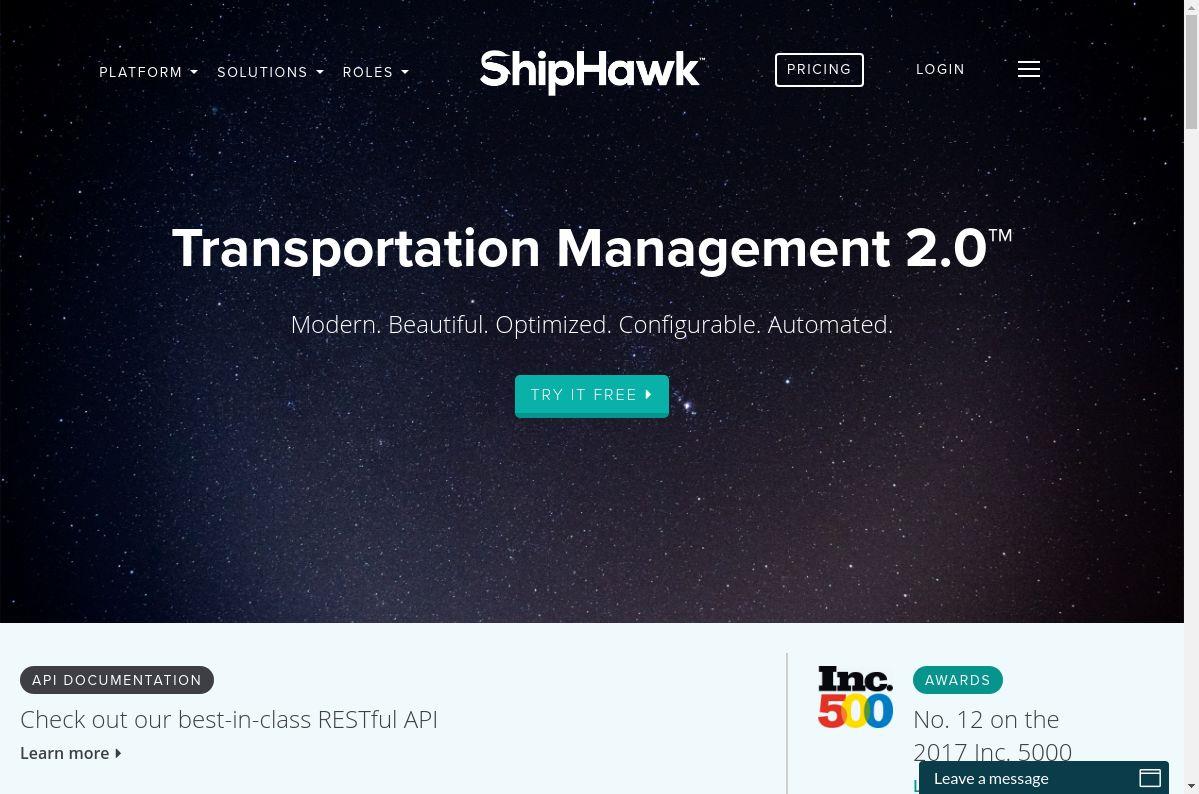 ShipHawk website
