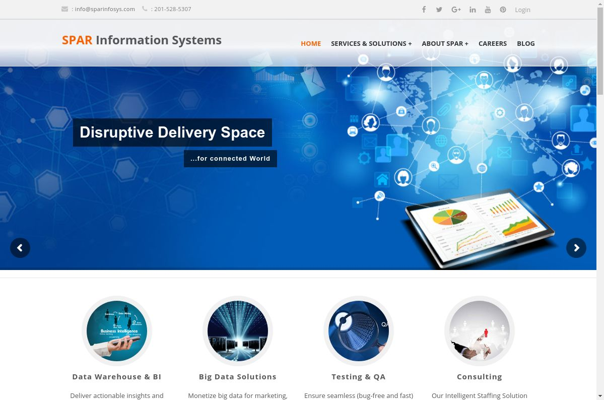 Spar Information Systems website