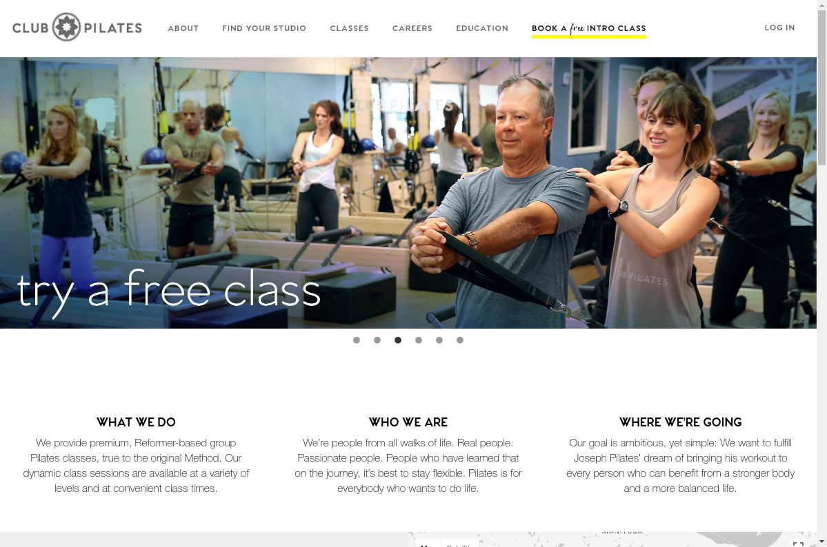 Club Pilates website