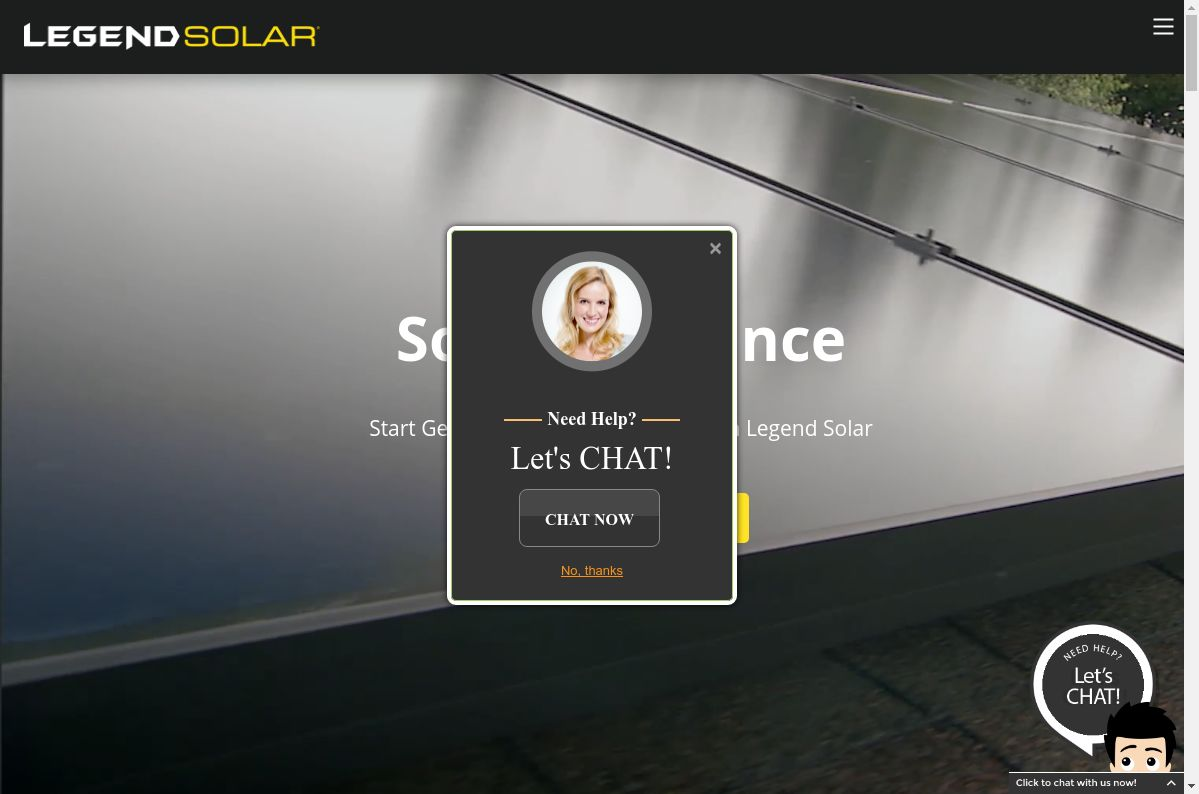 Legend Solar website