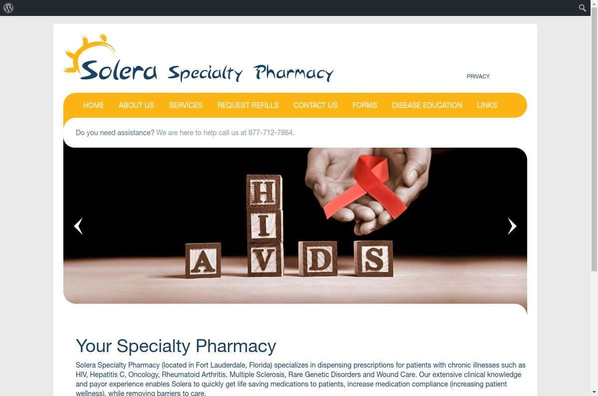 Solera Specialty website