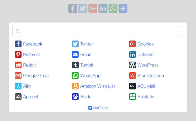 Add To Any adds a social icon bar for your visitors to share your content on their profiles.
