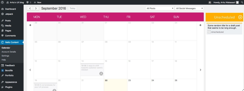 New Feature Mockup: Unscheduled Posts in the Calendar
