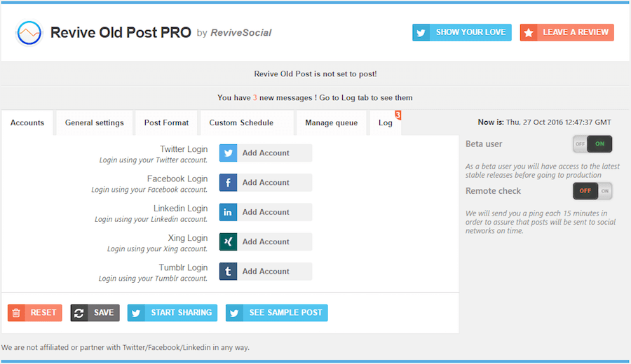 The plugin Revive Old Post reshares your old posts in social networks.